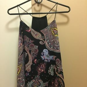 Paisley Print/Black reversible Racer Back Tank Top